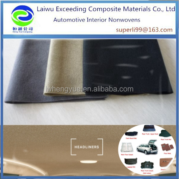 Polyester material PET Acoustic insulation felt for automotive thermoformed part
