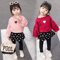 2019 Spring Autumn New Design Baby Girls 0-5 Years Fashion Shirt Skirt and Legging 3pcs Sets