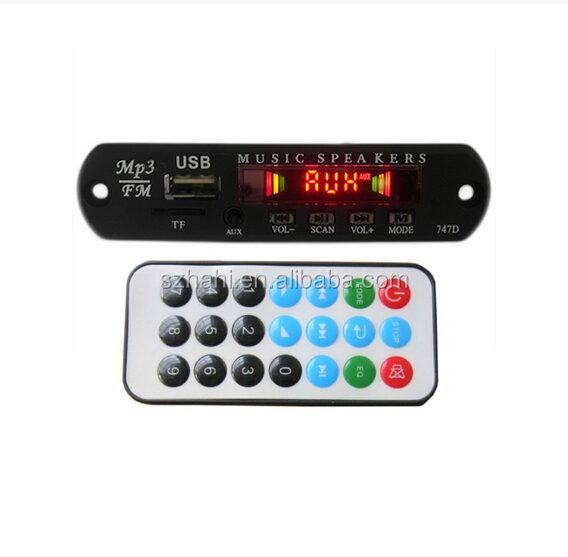 JRHT-Q9A usb FM mp3 sound module with led dancing dispaly