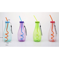 Eco-Friendly plastic water cup cold water bottle water bottle with straw