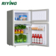 98L Double Door and Top Freezer Small Refrigerator BCD-98