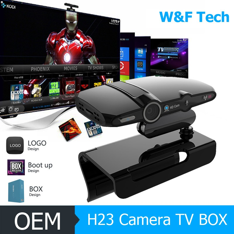 Multifunctional 1080p quad core smart tv box media player HD23 IPTV Android 4.4 satellite receiver android ott tv box