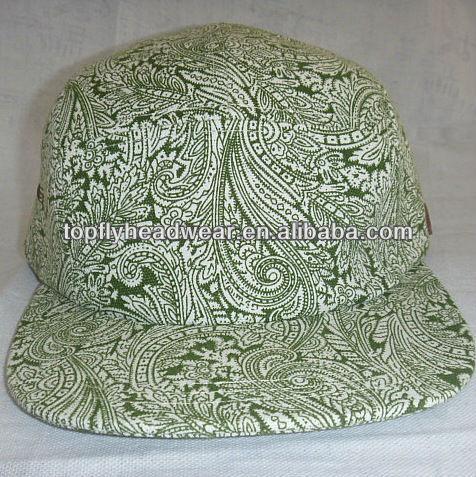 eabef56dea Impressão da lona em branco 5 painel campista headwear boné e chapéus  snapback tampões ...