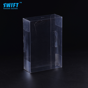 Customized logo printing clear plastic gift boxes malaysia for wine glass