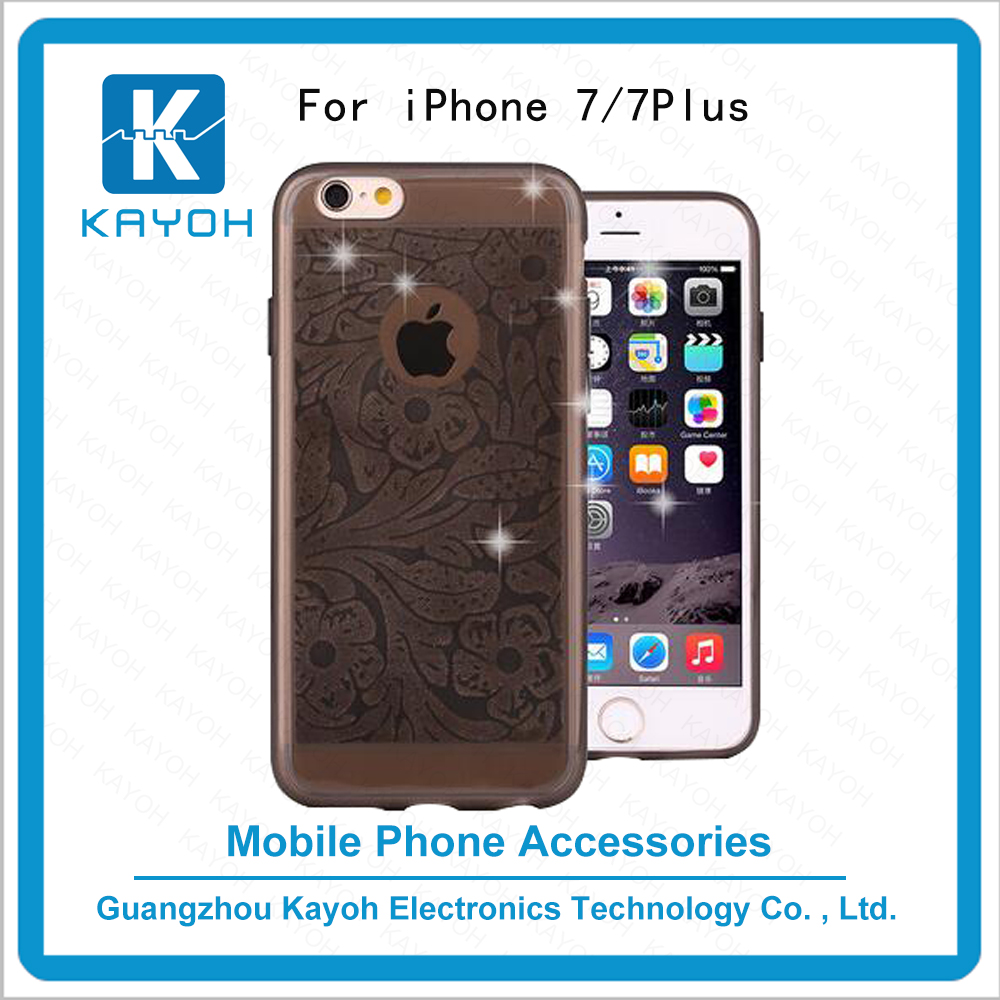 [kayoh]New product high quality Plum flower TPU case custom phone cases for iphone 7 transparent price