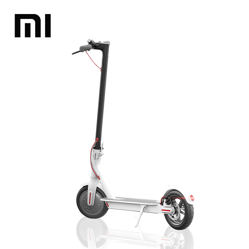 Original Xiaomi M1 M365 electric folding kick scooter 8 inch hoverboard scooter, Black/white
