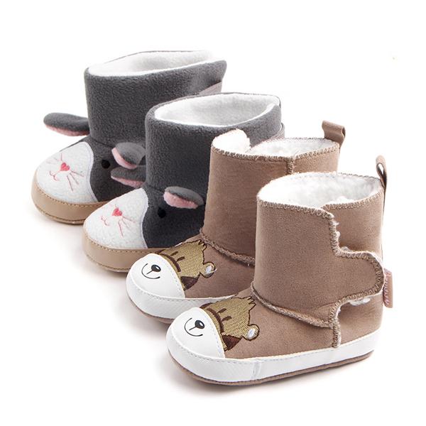 a61f1c8dd5ba21 Winter Warme Babyschuhe Premium Weiche Sohle Prewalker Neugeborenes  Kleinkind Junge Mädchen Krippe Schuhe Schneeschuhe