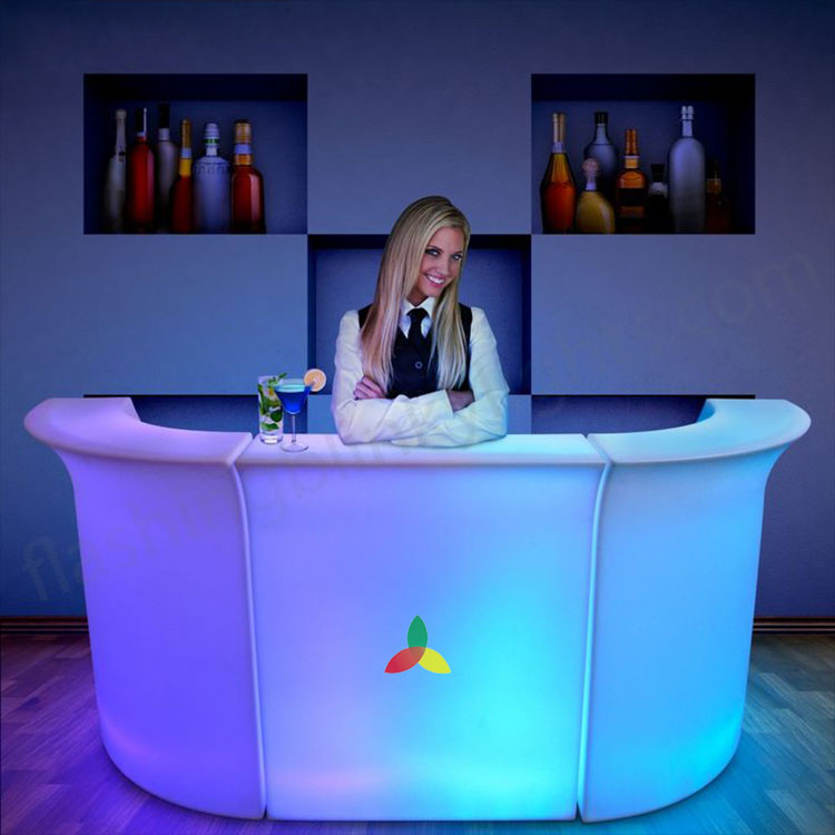 LED glowing counter Luminous table for wine store display table bar table
