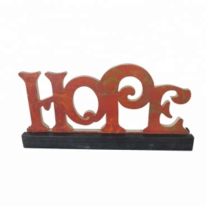 Office Item Dining Letter Hope Table Decoration