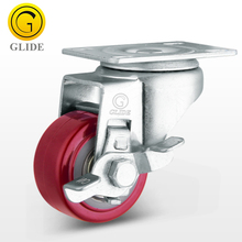 wholesale Light Duty activity furniture castors PU 1.5 2 2.5 3 inch office chair Caster wheel With Side Brake