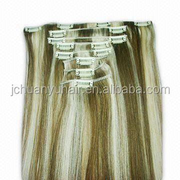 quality guarantee clip in 100% human hair extensions