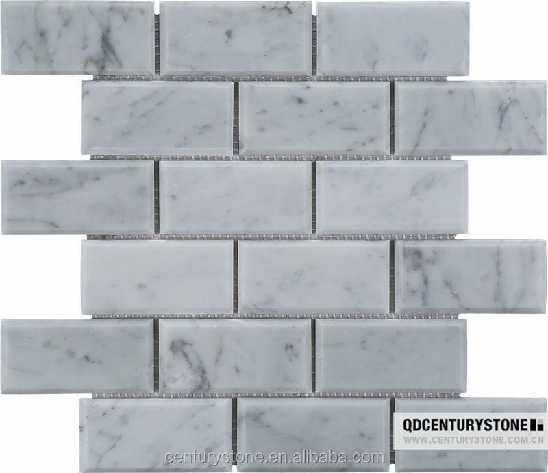 2 4 Honed Carrara White Marble Bevel Subway Tile Product On