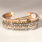 Stacking Bangle Bendable Fashion Inspirational Jewelry Positive Word Stackable Mantra Bracelet Wholesale