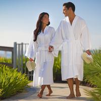 2017 White 100 Cotton Waffle bathrobes cotton quilted bathrobe turkish cotton bathrobes