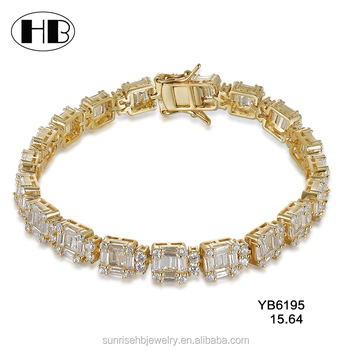 Hot Whole Products Cz Diamond New Indian Artificial Gold Chain Bracelet