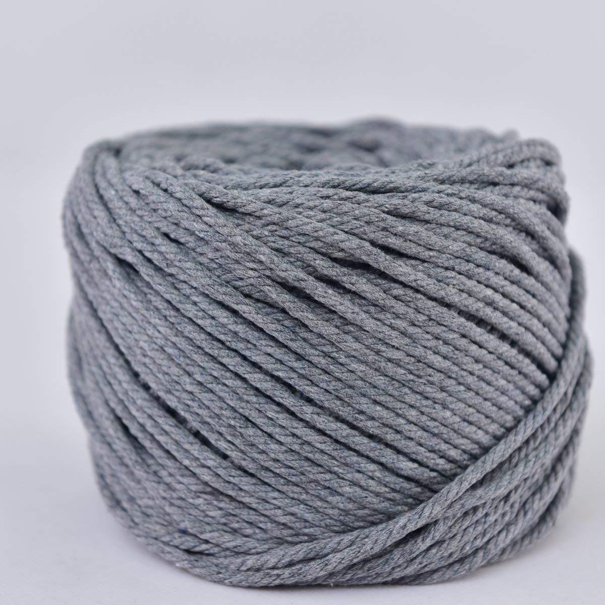 (Linen Grey, 3mm x 100m(About 109 yd)) Handmade Decorations Natural Cotton Bohemia Macrame DIY Wall Hanging Plant Hanger Craft Making Knitting Cord Rope Natural Color Beige Macramé Cord