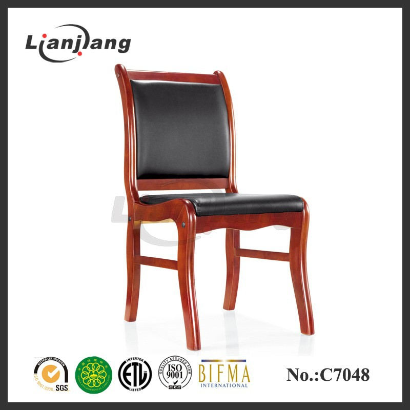 For meeting solid wood four leg office chair