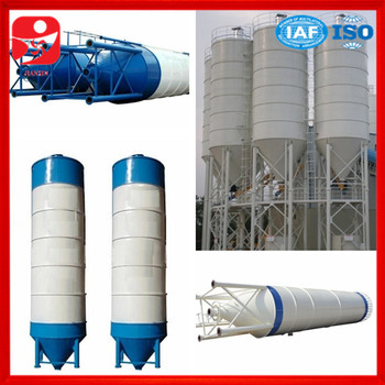 100ton Cement Silo Applied In Wet Concrete Batching Plant With 60m3