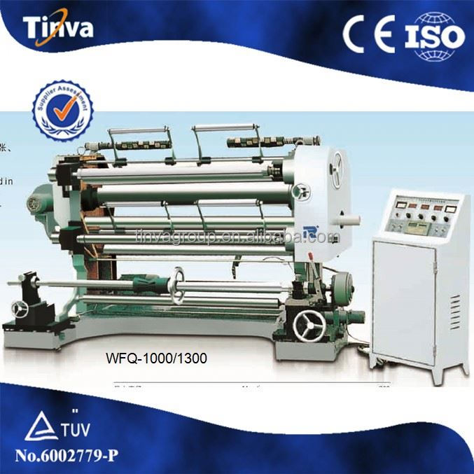 Automatic Double Motor Control Jumbo Roll Slitter Rewinder