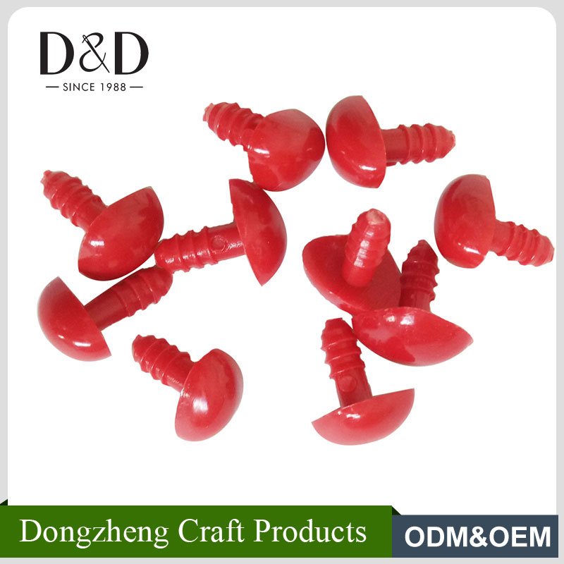 Hot selling small size red color household plastic safety <strong>eyes</strong>