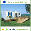 Low cost with decoration steel frame sandwich panel wall cabin house