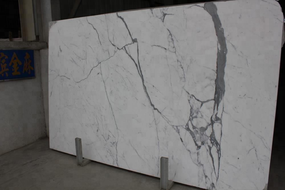 calacatte white marble tile for flooring