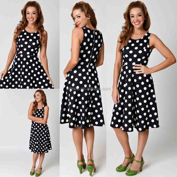 b7db561201f99 xxl size women casual dress / polka dot fat size fashion office women frock  dress /
