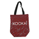 Wholesale beautiful red heart canvas tote shopping bag cotton
