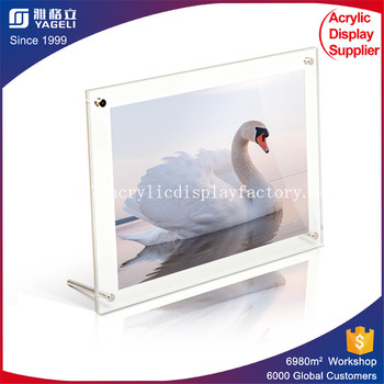 Acrylic Picture Frame Holder Stand Display Clear Acrylic Sign Holder ...