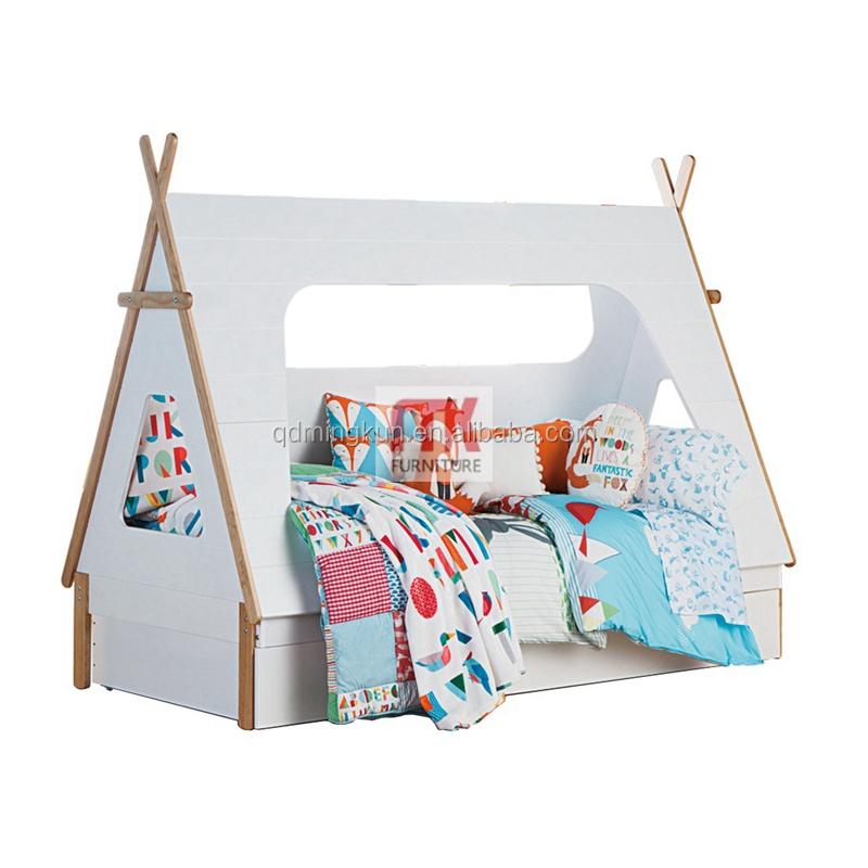 bois de pin lit mi tee pee lit avec tente loft lit pour enfants lit d 39 enfant id de produit. Black Bedroom Furniture Sets. Home Design Ideas