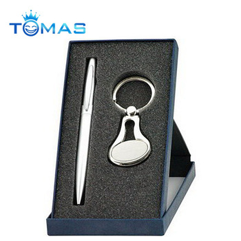 High end corporate gifts pen and keychain corporate anniversary gifts