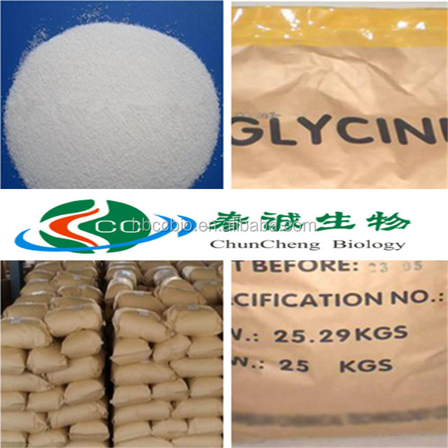 Glycine health food additive acetic acid pure powder for sale