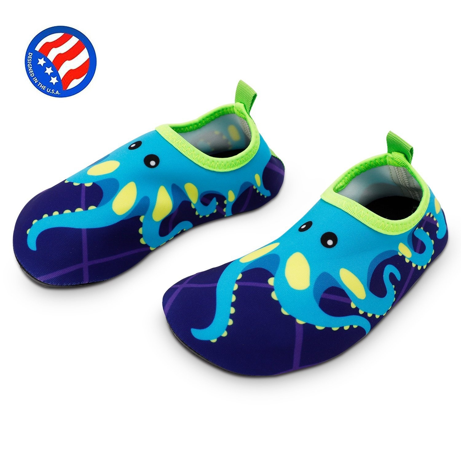 881391d92ea4 ... Aqua Socks for Boys Girls Toddler. null. null. Get Quotations · Bigib  Toddler Kids Swim Water Shoes Quick Dry Non-Slip Water Skin Barefoot Sports  Shoes
