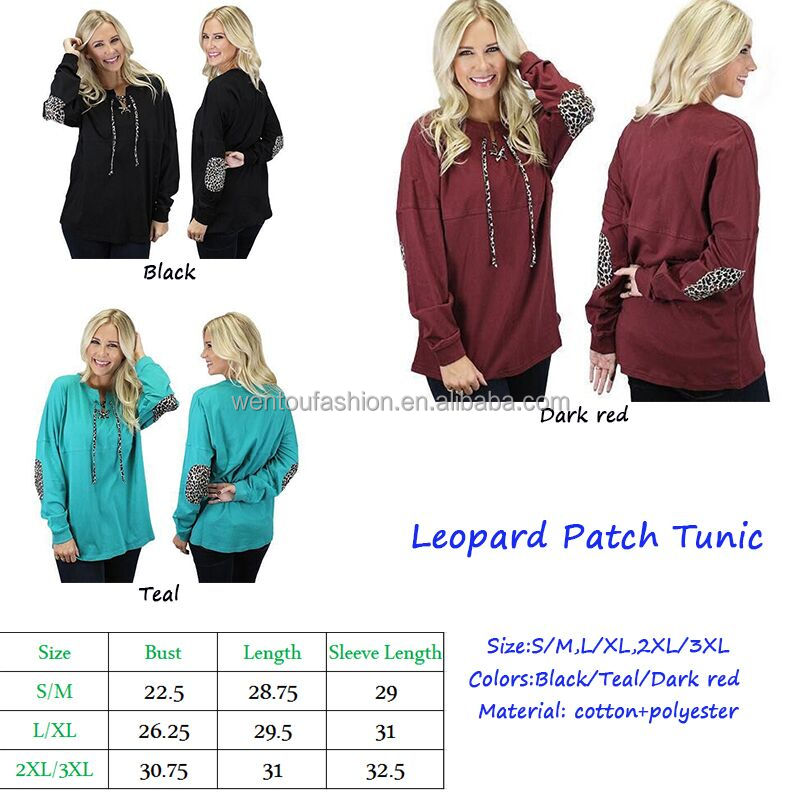 Wholesale 2017 New Fashion Long Sleeve Lace Up Neckline Women Leopard Cardigan With Elbow Patches
