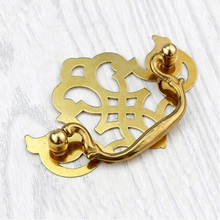 Well Decorative Chinese Furniture Hardware Gold Bronze Brass Wooden Drawer Handle C-0658