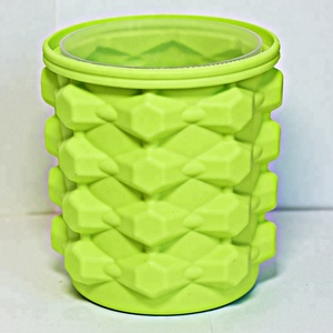 Big size Silicone Ice Cube Bucket Genie Rubber for Ice making for Beer Wine drink Customs logo