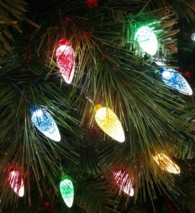 100x Multicoloured LED Faceted Cone Light Set Indoor/Outdoor Christmas Tree lights