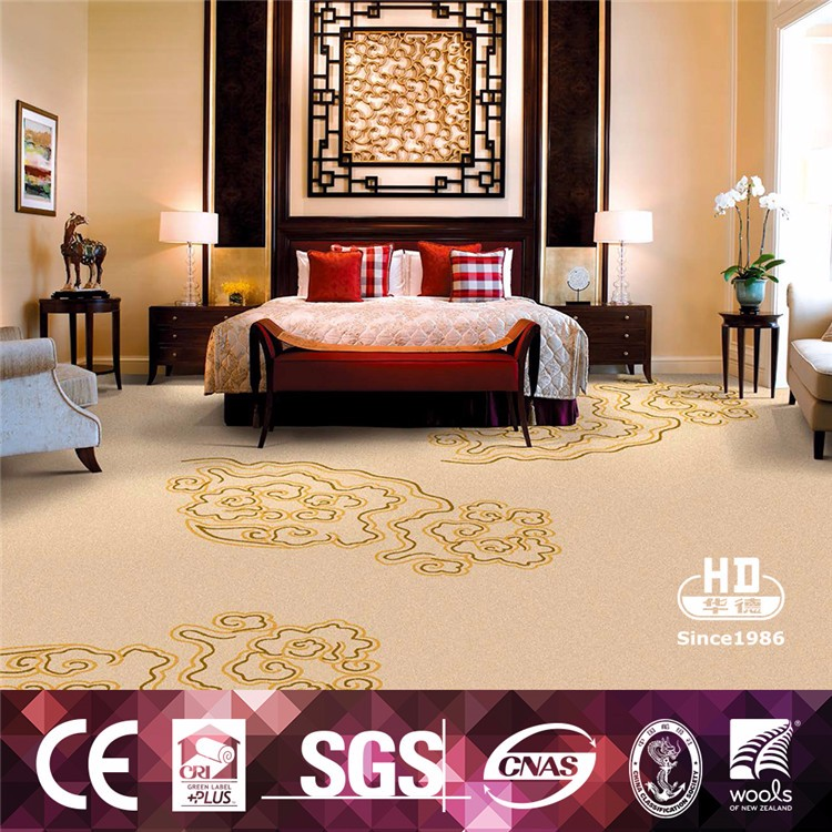 Digital Printed Cinema Hotel Floral Pattern Wall to Wall Carpet