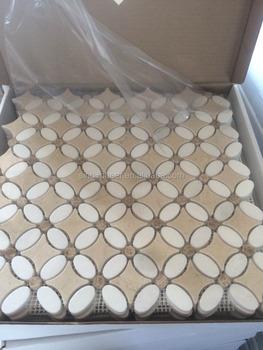 Decoratie Badkamer Muur : Superbenzine crema marfil marmer thassos witte badkamer muur
