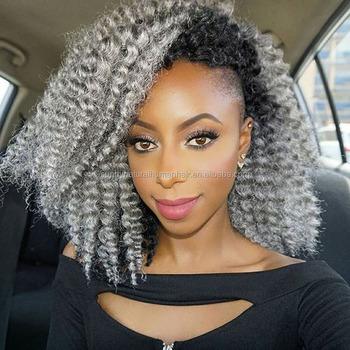 Venta Caliente Peluca Sintetica Peinado Afro Pelucas Para Mujeres