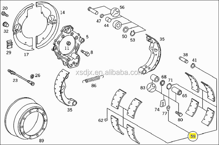 spare parts for mercedes benz actros mp2 mp3 drum brake. Black Bedroom Furniture Sets. Home Design Ideas
