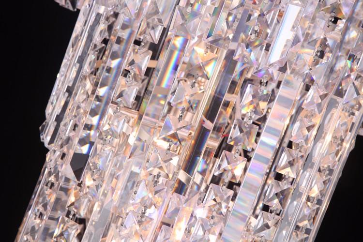 Kronleuchter Treppe ~ Hot moderne anhänger kristall lampe hotel lange höhe kristall