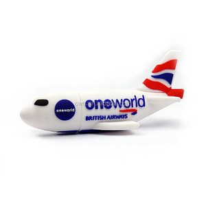 Promotional Airplane shaped 8GB USB Flash Drive ,PVC USB Flash Memory Stick custom Logo