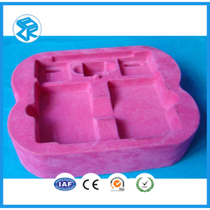 cheap plastic packaging PS flocking blister tray, rectangular ps/pvc flocking tray wholesale plastic fruit toys box
