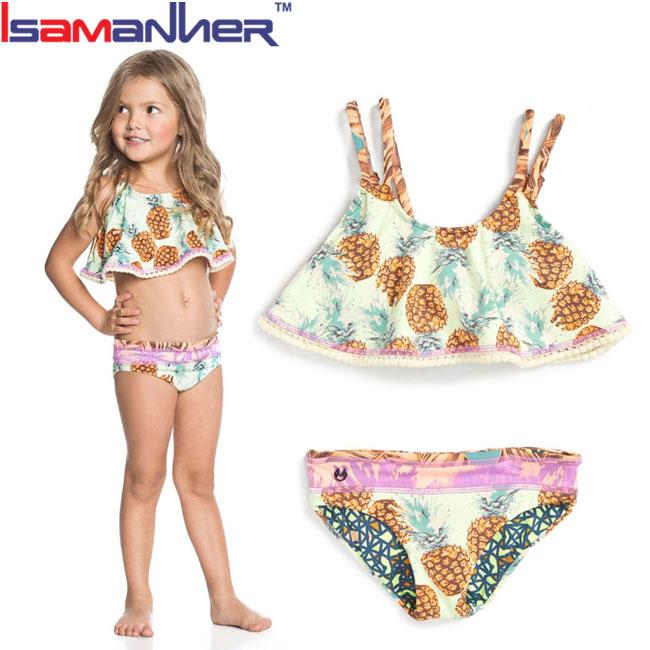 9ae31f9bb0138 أحدث مثير الفتيات الاطفال النمذجة مفتوحة بيكيني-ملابس السباحة ...