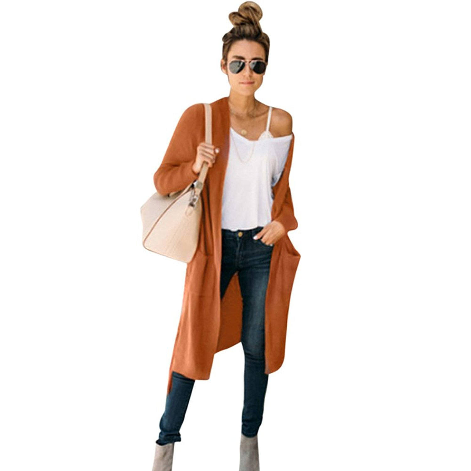 Women Jacket, Gillberry Women Ladies Pockets Long Sleeve Knitting Cardigan Jacket Coat Outwear