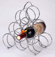 triangle Chrome Plated standing Wire Wine Rack