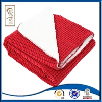 hot products fashion design corduroy sherpa fleece throw double layer blanket