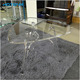 Modern Design Clear Acrylic Furniture 3 Side Coffee Table End Table