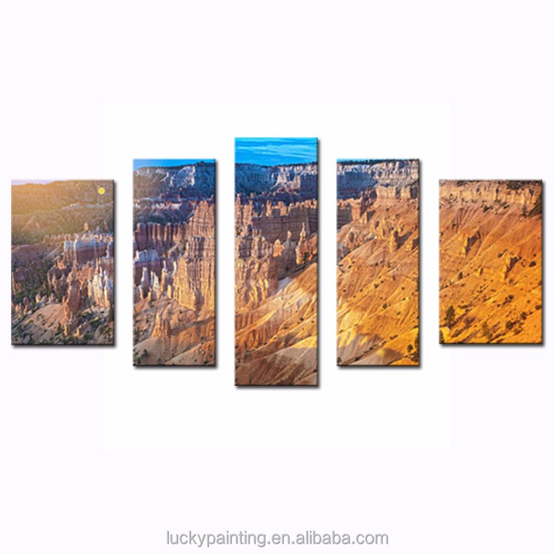 LK5129 5 Panels Modern Canvas Painting Wall Art The Picture For Home Decoration Sunrise At Bryce Canyon National Park Utah Unit